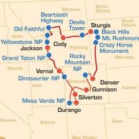 USA: Bikertour - WILD WEST UND ROCKY MOUNTAINS TOUR